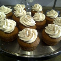 Pumpkin Cupcakes w/ Cream Cheese Frosting